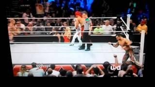 Hornswoggle and fandango dancing on WWE raw