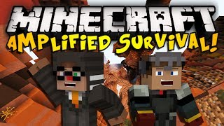 Minecraft: Amplified Hardcore Survival Ep. 1 - DOWN WE GO! (HD)