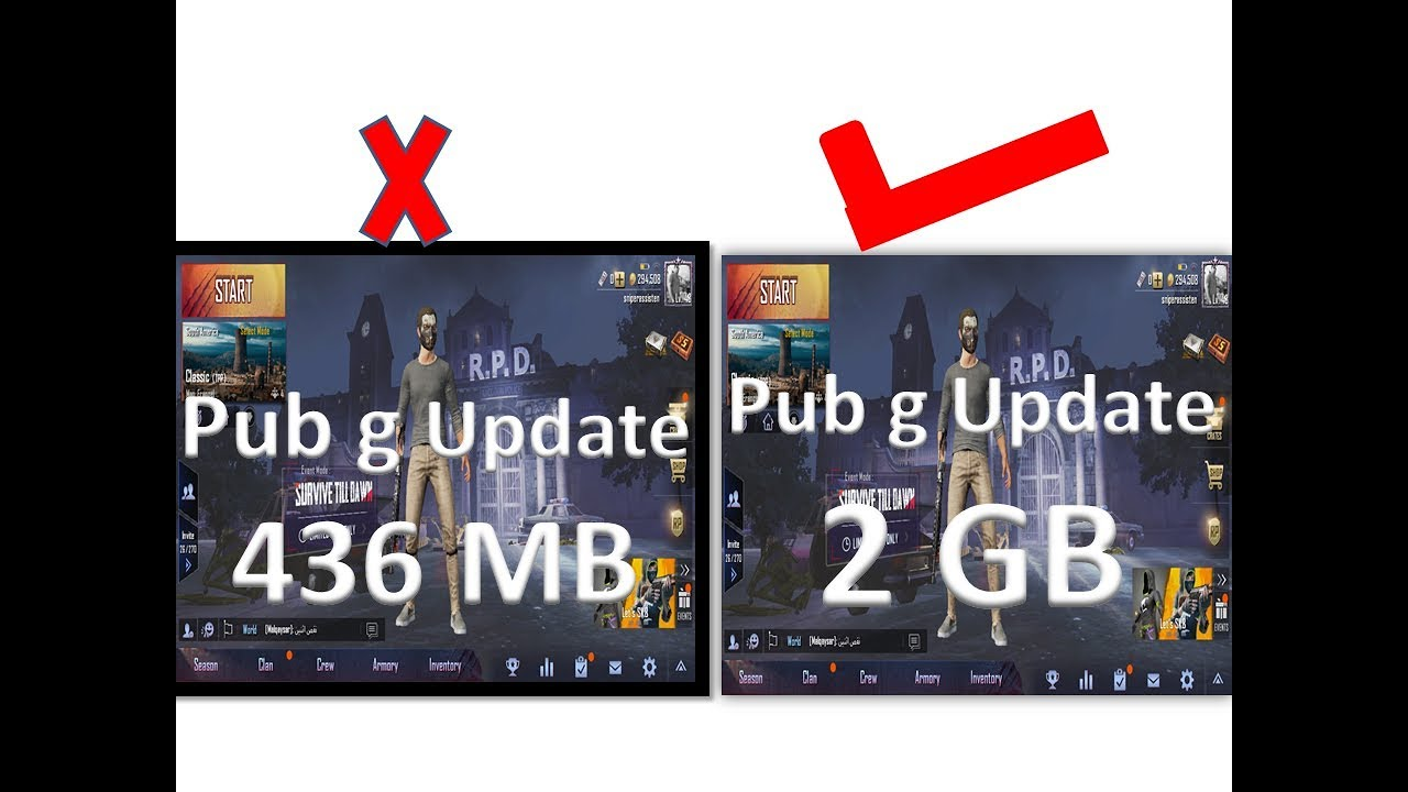 pubg new update mb size