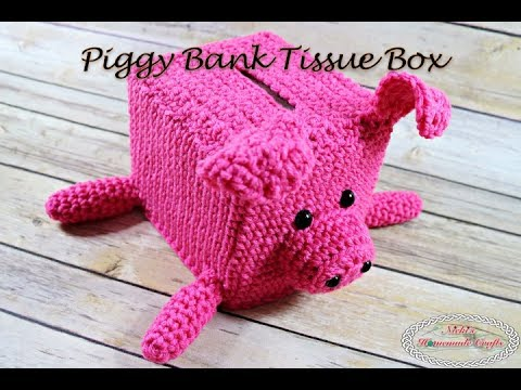 How To Make A Piggy Bank Tissue Box Free Crochet Pattern Summary