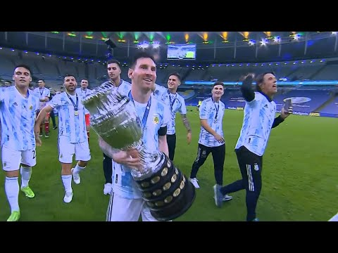 Lionel Messi Destroyed Brazil and Won First International Trophy