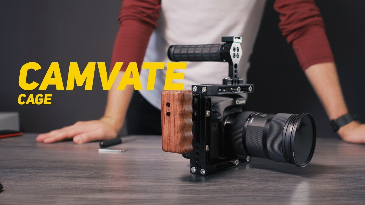 CAMVATE Dual-use Adjustable Cage with Top Handle Rubber C1724 Camera