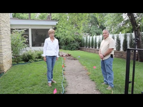 DIY: How to lay a brick sidewalk - YouTube
