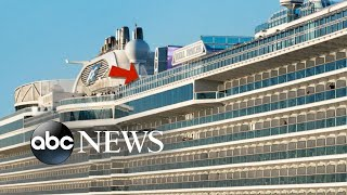 Woman falls off upper deck of cruise ship to her death