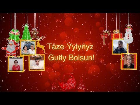 Туркменистан С Новым Годом - 2020, Täze Ýylyñyz Gutly Bolsun - 2020, Happy New Year - 2020