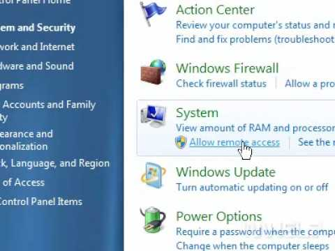 How To Allow Remote Access For Remote Assistance In Windows 7