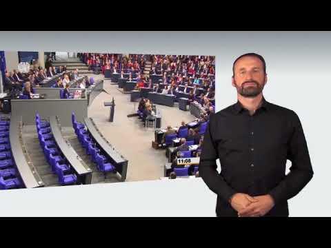 Gebärdensprachvideo: 19. Bundestag tritt zusammen