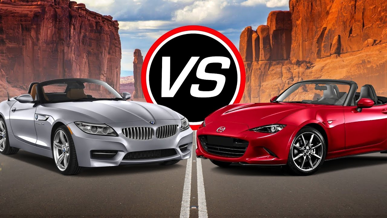 2016 Bmw Z4 Sdrive35i Vs Mazda Mx 5 Miata Spec Comparison Youtube