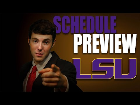LSU 2020 College Football Schedule Preview