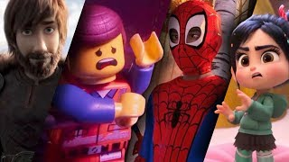 Animated Movie Trailer Compilation Review: Wreck-It Ralph, Spider-Man, Lego Movie, The Hidden World