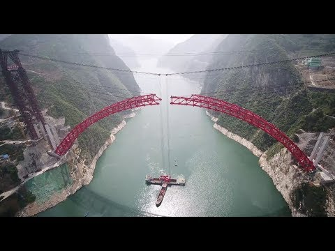 Construction of World's Longest-Spanning Thrust Arch Bridge Completed