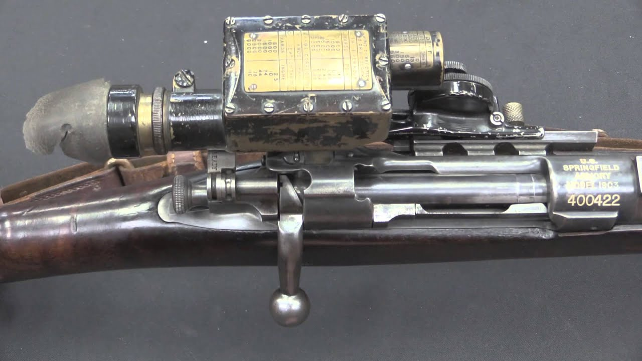 M1903 Sniper Rifle with Warner & Swasey M1913 Musket Sight ...