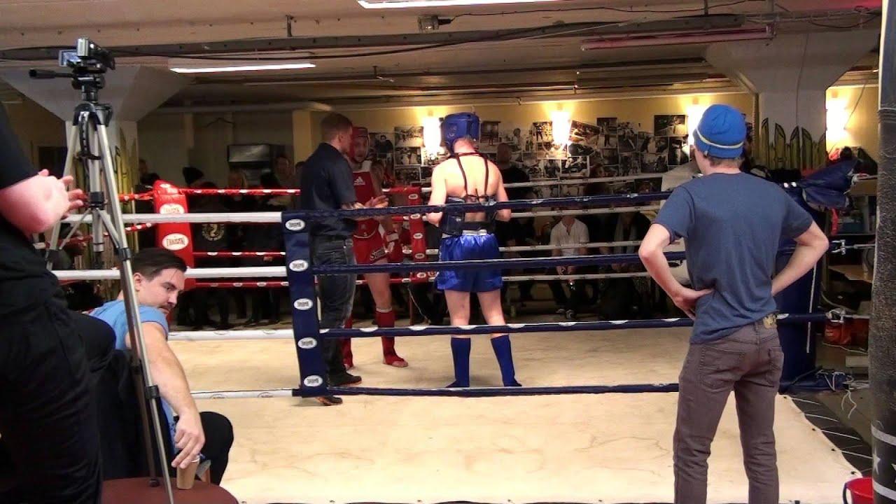 Jakob vs Andre Thaiboxning Sundsvall Drakstaden Nov 2014