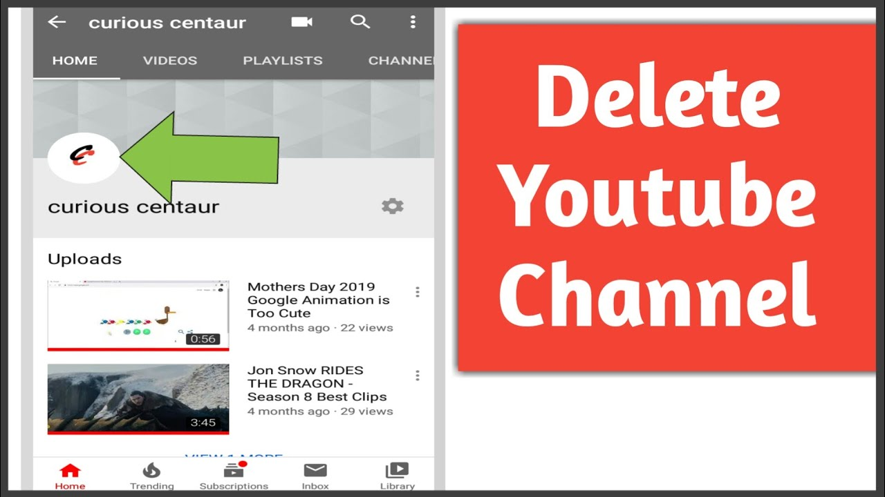How To Delete Youtube Channel Permanently On Phone Youtube