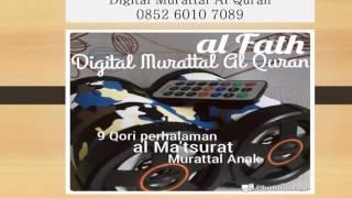 Distributor Digital Murattal Al Quran Pontianak, 085260107089 (Telkomsel)