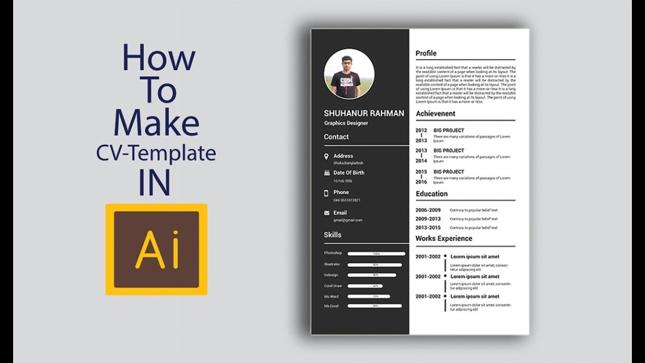 How To Create A Creative Cv Resume Template Design In