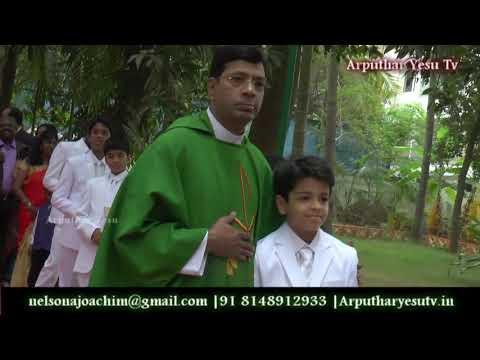 Happy Moments From First Holy Communion St Louis Church in Adyar Gandhi Nagar Chennai 20-01-2019
