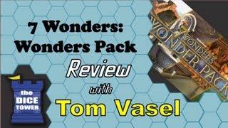 7 Wonders: Wonders Pack Review - with Tom Vasel