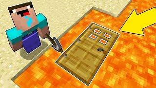 Minecraft Battle - NOOB vs PRO : NOOB FOUND THIS SECRET BASE UNDER LAVA !  (Animation)
