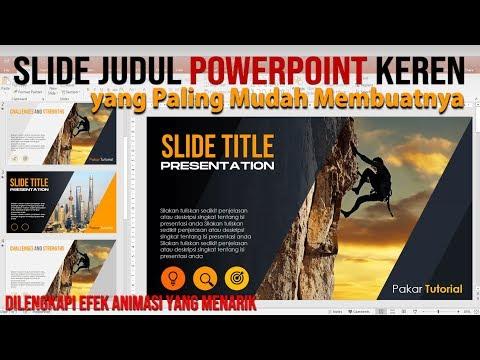 Cara Buat Slide Judul PowerPoint yang Paling Mudah