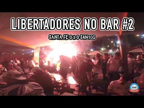 LIBERTADORES NO BAR - Santa Fe-COL 0 x 0 Santos (Oklahoma City Burger)