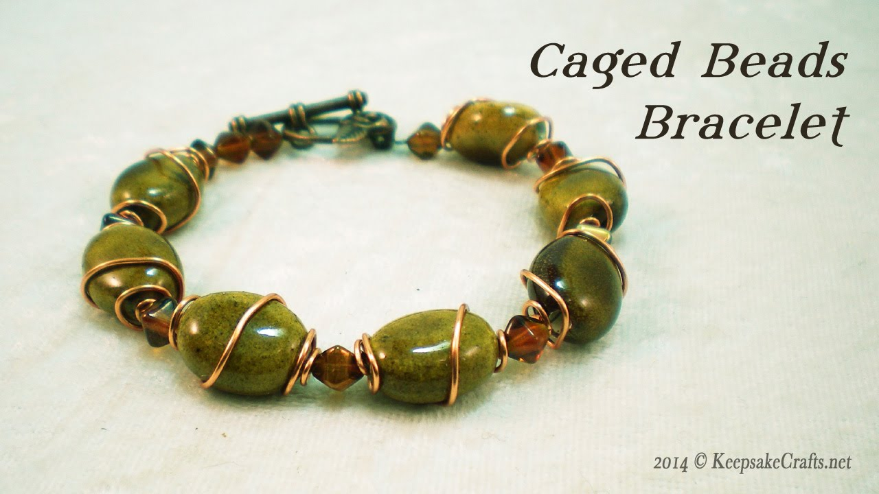 Caged In Copper Bead Bracelet Video Tutorial