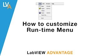 How to make custom Run time Menu in LabVIEW
