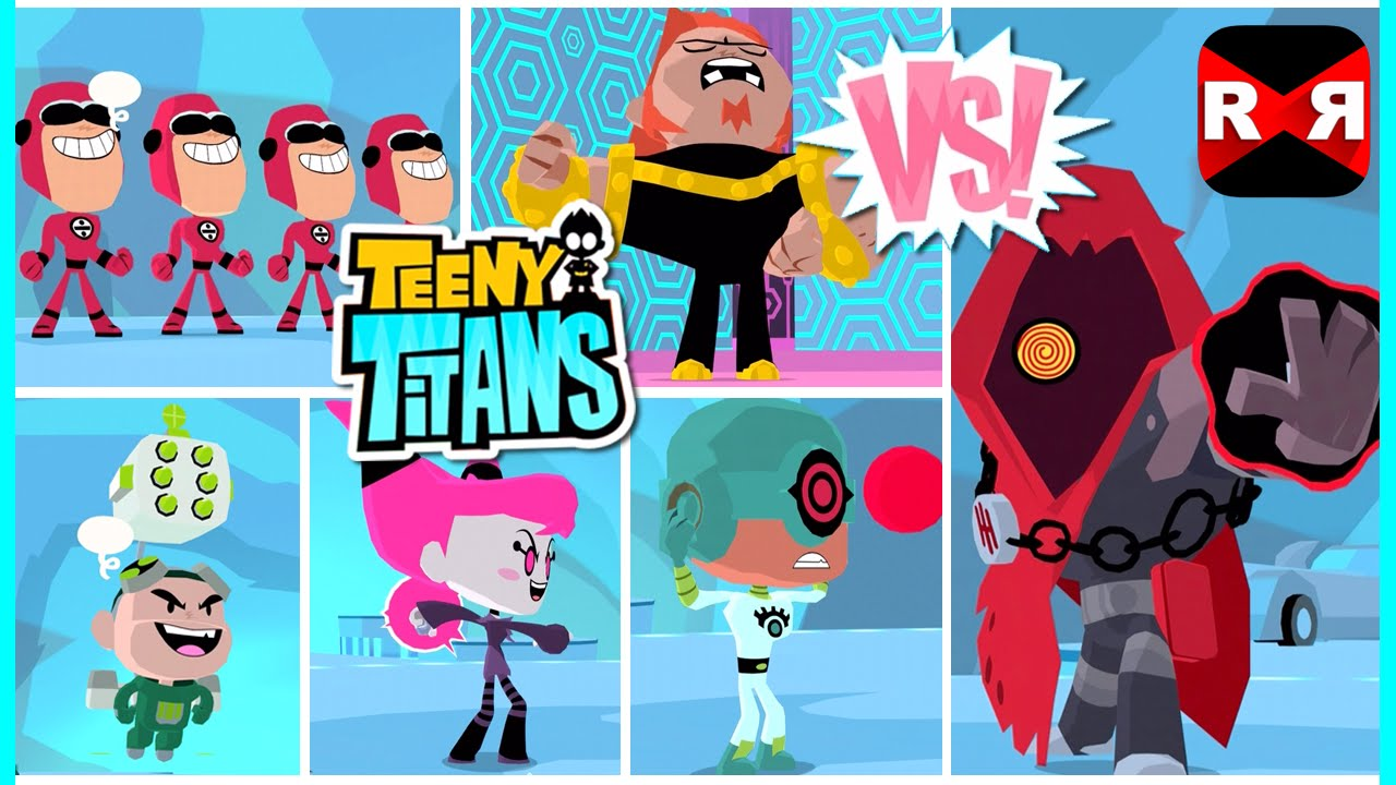 Teeny Titans – The HIVE Five Team VS The Hooded Hood – iOS / Android Gameplay Video