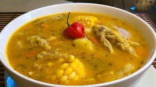 Jamaican Pumpkin Soup with Chicken Foot// Saturday Soup// Tasty 👅