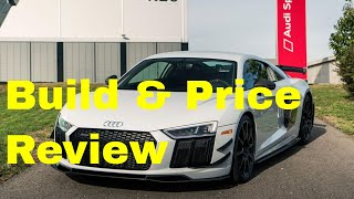 The 2018 audi r8 v10 plus coupe has a starting msrp of $194,400 and pretty long standard features list. r8, is based on th...