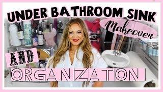 Under Bathroom sink Makeover and Organization