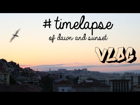 Timelapse of dawn and sunset in Izmit, Turkey FULL HD