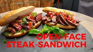 OPEN-FACE FLAP-STEAK SANDWICH - Italian Style | Rezept | Anleitung | Grill & Chill / BBQ & Lifestyle