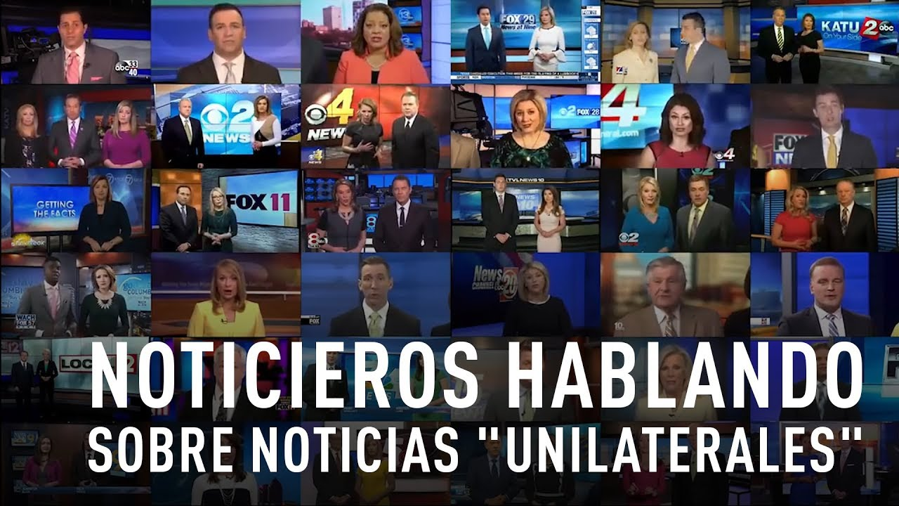 Decenas de canales noticieros en EE.UU. repiten exactamente las mismas palabras