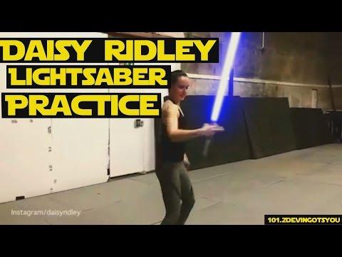 Download Youtube: Daisy Ridley Lightsaber Practice