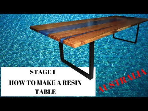 STAGE 1-MAKING RESIN TABLE AUSTRALIA