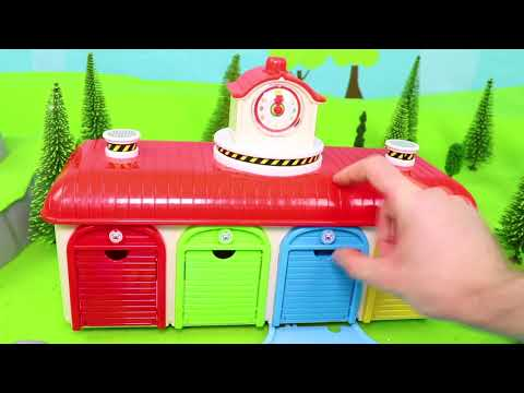 Tayo Bus Toys: Concrete Mixer, Excavator, Cars, Train & Fire Truck Surprise Toy Vehicles For Kids