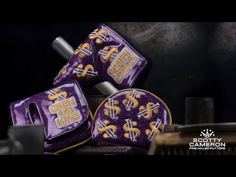 Cash Is King Bling Purple Custom Shop Headcover | Scotty Cameron