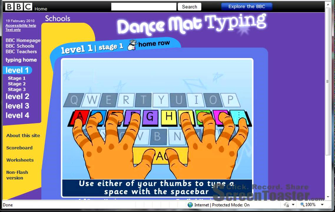 Worksheet Bbc Typing Kids dance mat typing youtube typing