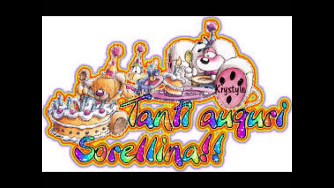 Eccezionale Auguri Compleanno Sorellina | auguri di compleanno speciali PG83
