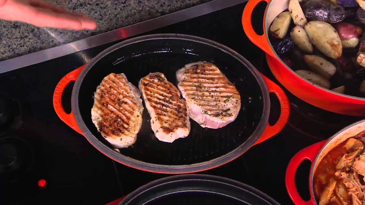 Le Creuset 4 5 Qt Oval Dutch Oven W Grill Pan Lid