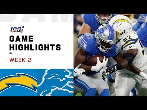 Chargers vs. Lions Week 2 Highlights | NFL 2019