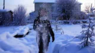 Побаловались снежком