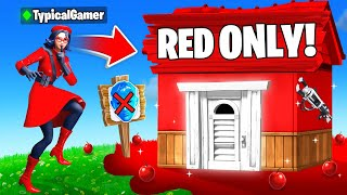 I Went UNDERCOVER in a RED ONLY Tournament! (Fortnite)