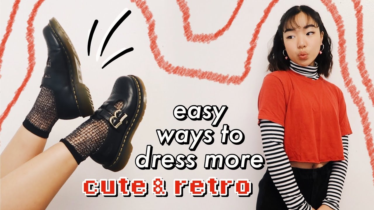 Aesthetic Vintage Clothing: How To Make Basic Clothes Look Cute & Aesthetic 🧸🦋 *retro