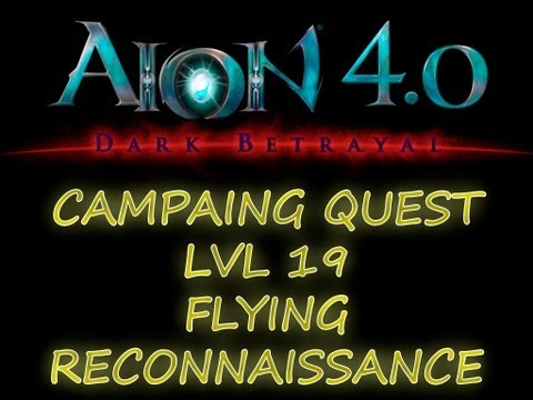 AION 4.0 - GUIA ELYOS - CAMPAIGN QUEST LVL 19 - FLYING RECONNAISSANCE
