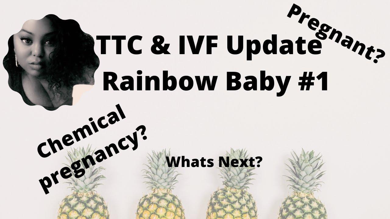 Ivf update ! Ttc rainbow baby #1 , are we having a baby ...