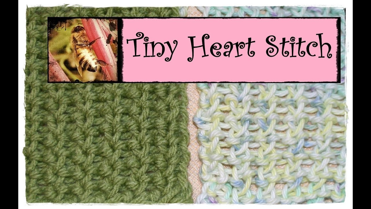 Loom Knitting Tiny Heart Stitch - YouTube