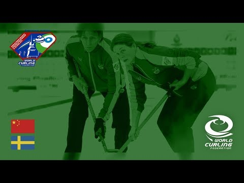 China v Sweden - Round-robin - World Mixed Doubles Curling Championship 2018