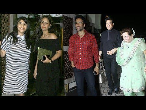 Mona Singh,Tusshar,Jeetendra and Shobha Kapoor Attends Ekta Kapoor's Birthday Party   SpotboyE